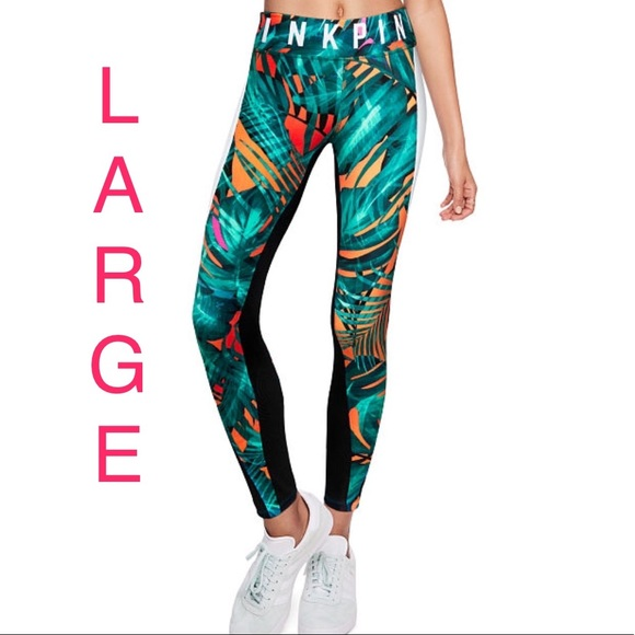 3b78a2f012c875 PINK Victoria's Secret Pants | Vs Pink Ultimate Legging Tropical ...